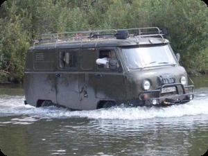 Преодоление брода на автомобиле