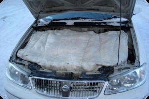Автомобильное одеяло для двигателя фото